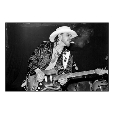 Stevie Ray Vaughan live photo